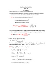 Mathematical Statistics Quiz#1SOL-2007