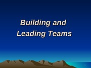 XI - Building and Lding a Team