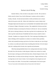 Student Interview Scientific Writing