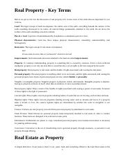 Real Property 1.4