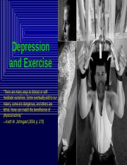 KIN 340 Depression and Exercise.pptx