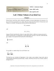 Lab 5 Molar Volume of a Gas.docx