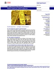North America Gold Producers Primer - UBS (2009).pdf