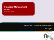 Lecture 4 - Financial Statements Analysis continued