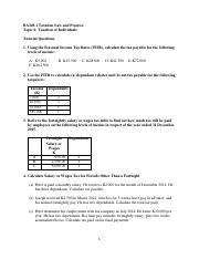 Topic 6 Tutorial exercies.pdf