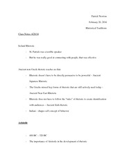 Ireland Rhetoric notes
