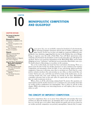 10 - Monopolistic Competition and Oligopoly