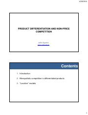 Lecture 6_Product differentiation and nonprice competition