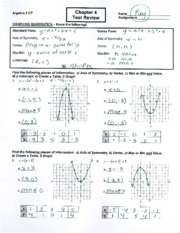 Worksheet Algebra 2 Worksheets With Answer Key 5 1 worksheet answer key 6 pages chapter 4 test review key
