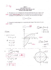 Math 21D Quiz Solutions 2
