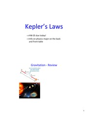 Lecture20 Ch12 KepplersLaws
