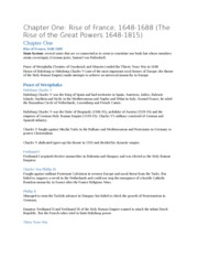 Chapter One Rise of France, 1648-1688 (The Rise of the Great Powers 1648-1815)