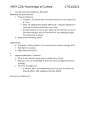 ANTH 205 Notes (Exam 2)