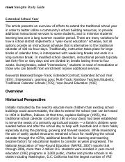 Extended School Year Research Paper Starter - eNotes.pdf