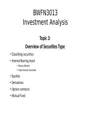 Topic 3_Overviews of Securities Types.pptx