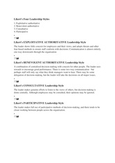 likert four styles of leadership Understanding management and leadership styles likert's research suggested that consultative and participative styles were more effective them as the key factor in selecting the most appropriate leadership style four leadership styles were.