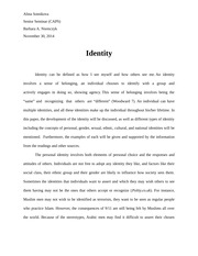 Identity Final Paper by Alina S.
