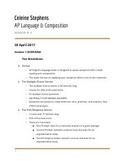 AP Language and Composition Notes