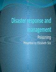 Disaster response and management