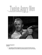 Twelve Angry Men Project