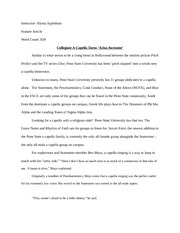 Awesome Feature Story Essay