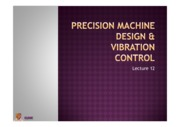 Lecture 12 -precision system n vibration control