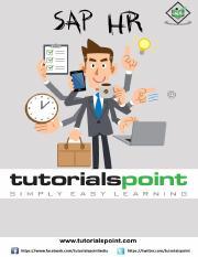 sap_hr_tutorial pdf - SAP HR About the Tutorial SAP Human Capital