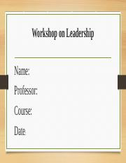 Workshop on Leadership.pptx