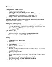 Midterm Outline/Key Points with Court Case Review (Student Made)