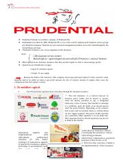 Insurance company-Prudential