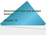 Ch 16 - Government Debt and Budget Deficits (1)