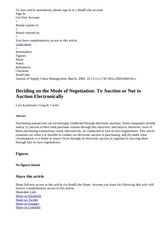 Deciding on the Mode of Negotiation  To Auction or Not to Auction Electronically   ReadCube Articles