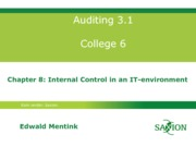 Auditing 3.1 college 6, chptr 8, eme03