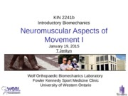 Lecture 6 Neuromuscular I 190115