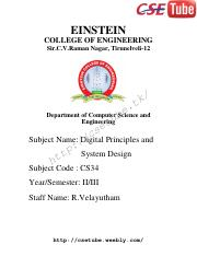 Dpsd Lecture Notes Einstein College Of Engineering Sir C V Raman Nagar Tirunelveli 12 K T E Department Of Computer B Science And U Engineering T E S C Course Hero