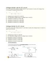 Voltage divider rule for DC circuit.docx