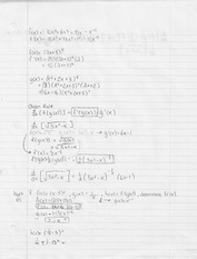 First Derivative Homework And Solution For Math 12