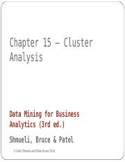 Chapter 15 Clustering.ppt