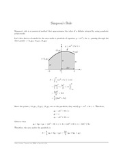 MATH 2403 Simpson's Rules Notes
