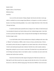 Reflection Essay on  Kpop