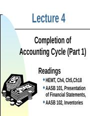 Lect 4 Accounting Cycle