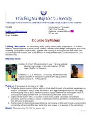Syllabus PHI 302 Introduction to Philosophy ColumbiaVer2.docx