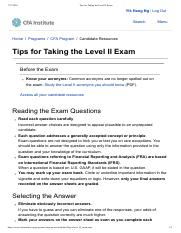 Tips for Taking the Level II Exam.pdf
