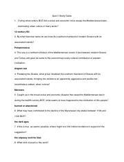 Quiz 5 Study Guide