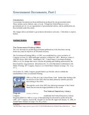 012 Lesson - Government Documents