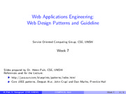 7.1.Design Patterns for Web Applications