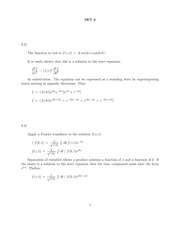 Problem Set 9 Solution on Classical Electrodynamics