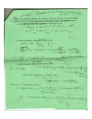 Precipitation reaction problem