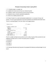 Principle of Accounting  II-Exam 3 Spring 2010 Take home  (2)