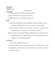 narrative speech outline sample The previous article in the speech preparation series described how to select your speech topic and your core message this article describes how to support your core message with a speech.